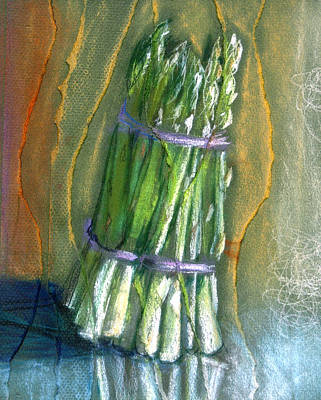 Asparagus Mixed Media - Asparagus by Susan Avishai
