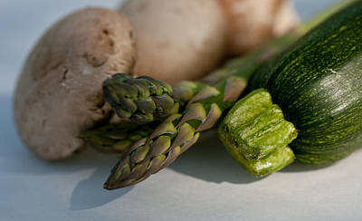 Photograph - Asparagus Zuncchini Mushrooms by Wilma  Birdwell