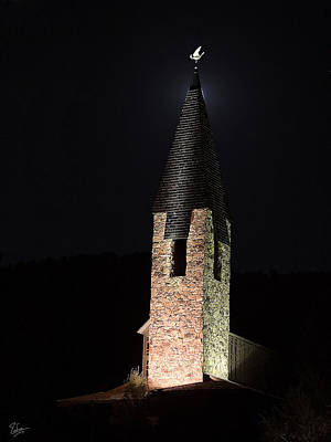 Photograph - Aspen Church Spire by Endre Balogh