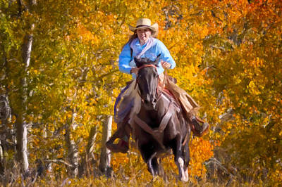 Wyoming Painting - Aspen Conquest by Janet Fikar