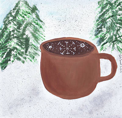 Painting - Aspen Cup by Beth  Cornell