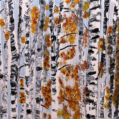 Painting - Aspen Forest In Fall by Valerie Ornstein