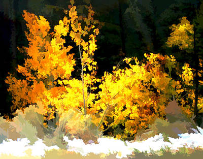 Digital Art - Aspen Glow II by Gary Baird