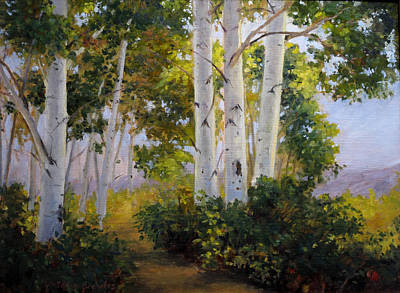 Painting - Aspen Grove by Victoria  Broyles