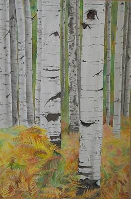 Aspens And Bracken Art Print by Laurel Thomson