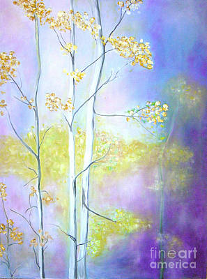Aspens  Art Print by Barbara Anna Knauf