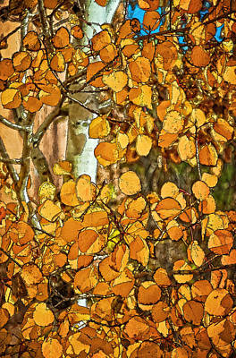 Digital Art - Aspens Gold by Charles Muhle