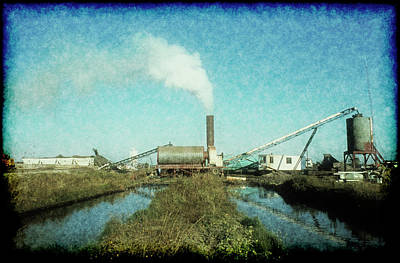 Photograph - Asphalt Plant On The Creek by John Brink