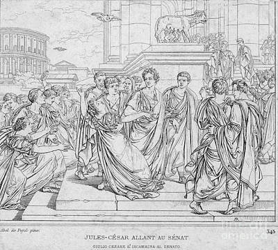 Brutus Photograph - Assassination Of Julius Caesar, 44 Bc by Science Source