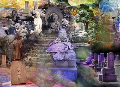 Assemblage  Of Buddhas Art Print by Kenneth Hadlock