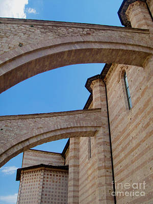 Assisi Italy - Basilica Of Santa Chiara Art Print by Gregory Dyer