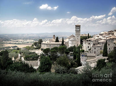 Assisi Italy - Bella Vista - 01 Art Print by Gregory Dyer