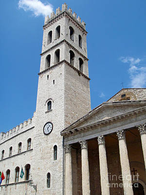 Assisi Italy - Santa Maria Sopra Minerva Art Print by Gregory Dyer