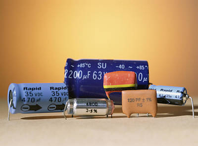 Capacitors Photograph - Assorted Capacitors by Andrew Lambert Photography