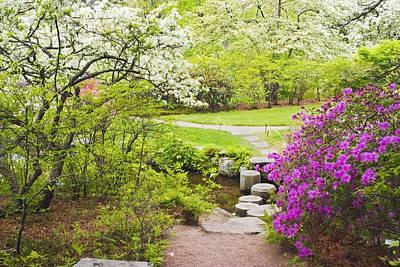 Maine Photograph - Asticou Azelea Garden In Spring Photograph by Keith Webber Jr