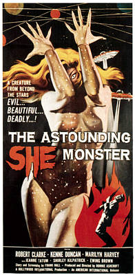 1957 Movies Photograph - Astounding She-monster, 1957 by Everett