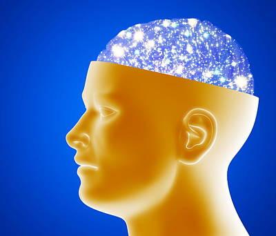 Astronomical Brain Art Print