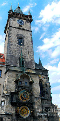 Astronomical Clock In Prague Art Print by Pravine Chester