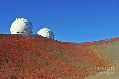 Mauna Kea Photograph - Astronomical Observatory On Mauna Kea Volcano by Sami Sarkis