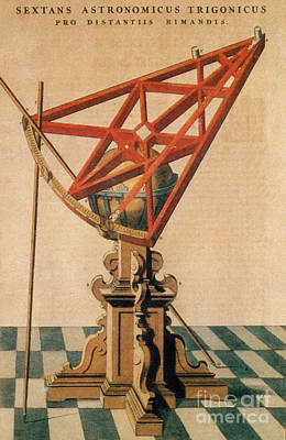 Photograph - Astronomical Sextant by Science Source