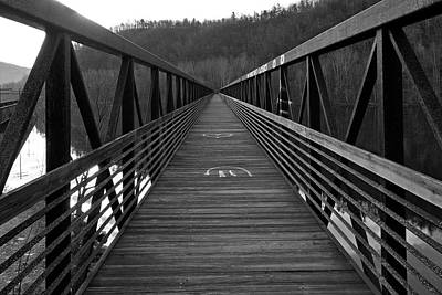 At Bridge Vanishing Point Art Print by Alan Raasch