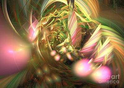 Digital Art - At Dawn - Fractal Art by Sipo Liimatainen