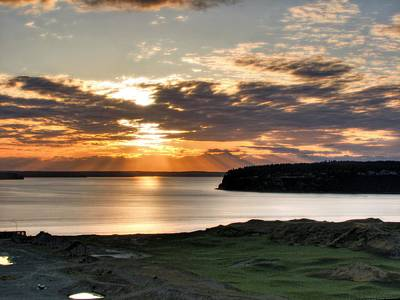 Photograph - At Days End - Chambers Bay Golf Course by Chris Anderson