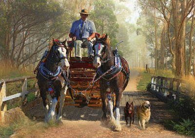 At Durdidwarrah Crossing Art Print by Trudi Simmonds
