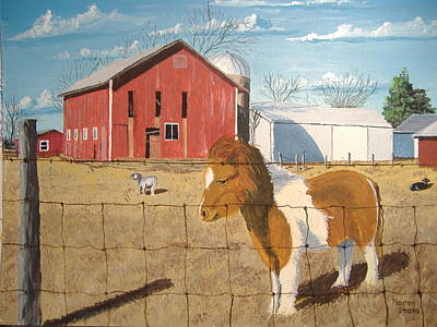 Art Print featuring the painting At Home by Norm Starks