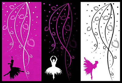 At The Ballet Triptych 2 Art Print
