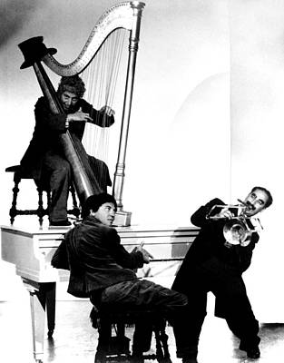 Publicity Shot Photograph - At The Circus, Top Harpo Marx, Bottom by Everett