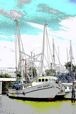 At The Dock Art Print by Barry Jones