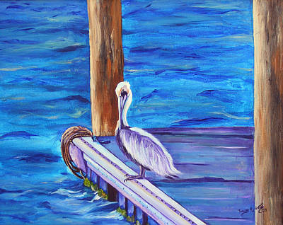 Painting - At The Dock by Tracey R Gates