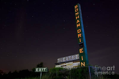 Old Drive In Photograph - At The Drive In Movie Theater  by Keith Kapple