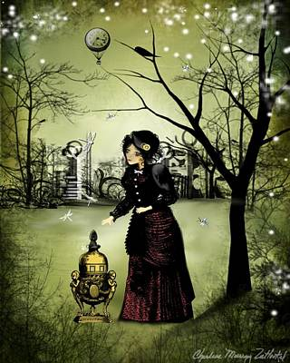 Victorian Digital Art - At The End Of The Day by Charlene Zatloukal