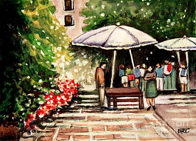 At The Market Print by Elizabeth Robinette Tyndall