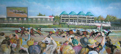 Pastel - At The Races by Carole Haslock