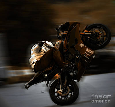 Motorcycles Photograph - At The Speed Of Balance by Steven Digman