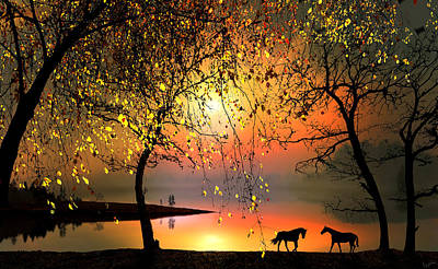 Digital Art - At The Sunset by Igor Zenin