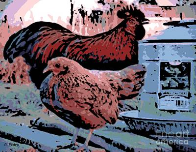 Pekin Bantam Photograph - At The Watering Can by George Pedro