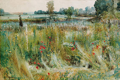 River Walk Painting - At The Water's Edge by John William Buxton Knight