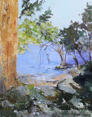 Natchez Painting - At The Waters Edge by Sandy Lane