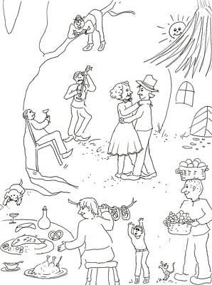 At The Wedding Art Print by Vass Eva Rozsa