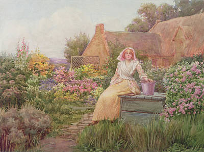 Woman At The Well Painting - At The Well by William Ashburner