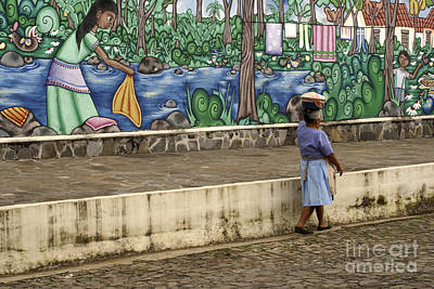 Photograph - Ataco Mural El Salvador by John  Mitchell
