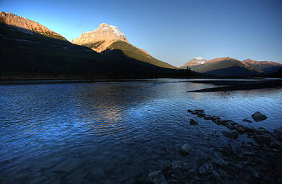 Rocky Digital Art - Athabasca River In Jasper National Park by Mark Duffy