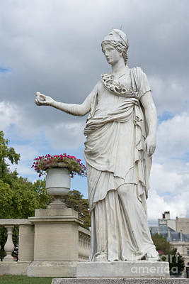 Allegoric Photograph - Athena And The Owl by Fabrizio Ruggeri