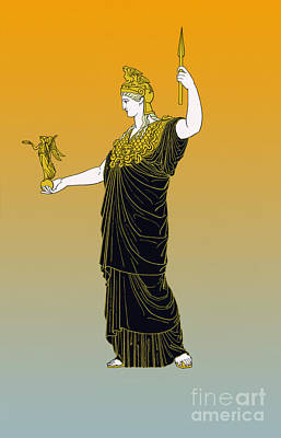 Athena, Greek Goddess Art Print by Photo Researchers