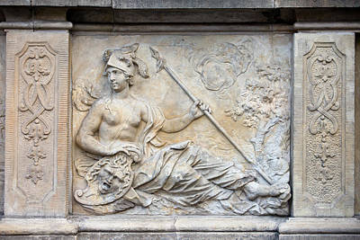 Warrior Goddess Photograph - Athena Relief In Gdansk by Artur Bogacki