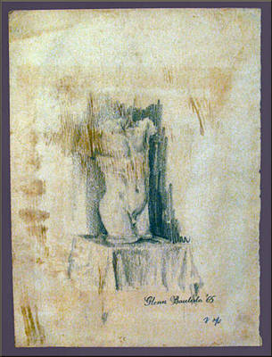 Drawing - Athenian Figure 1965 by Glenn Bautista